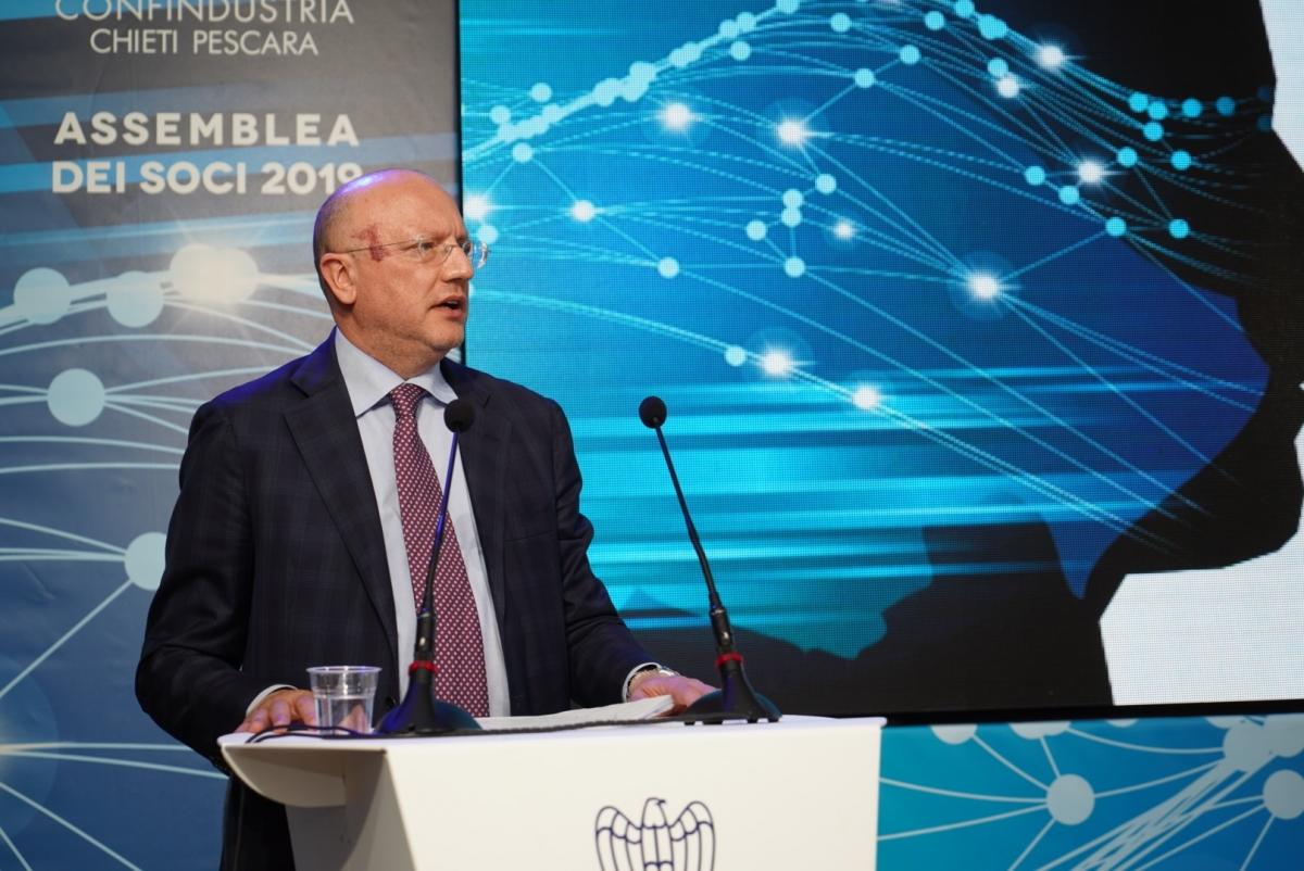 Il presidente Boccia all'assemblea di Confindustria Chieti-Pescara